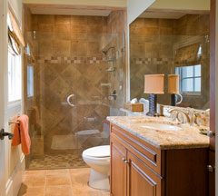 custom shower stall in master bath