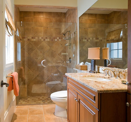 Small Bathroom Design on The Choice Of A Custom Designed Shower Stall With All The Latest
