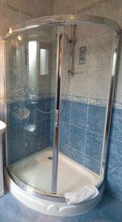 curved glass sliding shower door