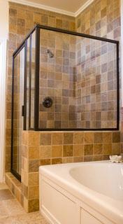 custom framed shower enclosure