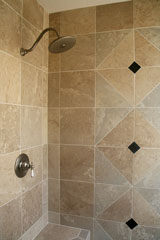 designer tile shower